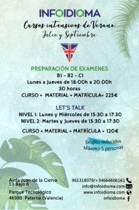 cursos intensivos de inglés en Valencia - Infoidioma